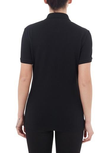 Lacoste  Düğmeli Polo T Shirt Kadın Polo Pf5462 031 Siyah